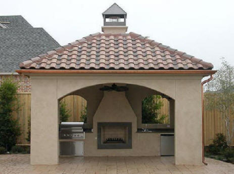 Cost To Build Outdoor Room We Do It All Kitchen Fireplace Design Company Install Builder I