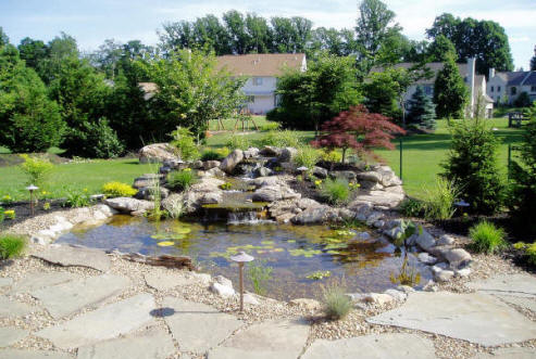 Replace pond liner repair company pond maintenance for Garden pond installers
