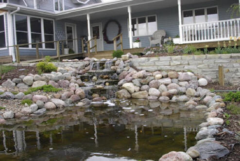 Local install a pond company local pond builders koi for Koi pond installation cost
