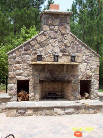 kershaw lancaster sc outdoor kitchens fireplaces builder