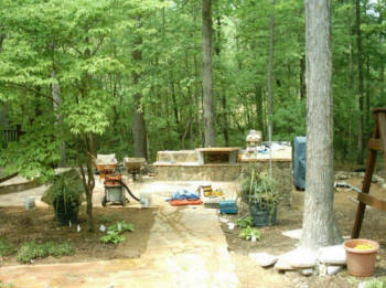 Rock hill fort mill sc outdoor kitchens fireplaces for Landscaping rocks columbia sc