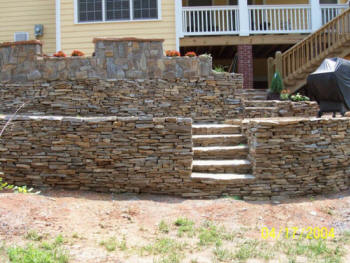 Columbia sc retaining wall install repair columbia for Landscaping rocks columbia sc