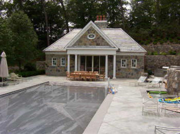 Local contractor design build pool house cabana bath for Pool house with bathroom cost