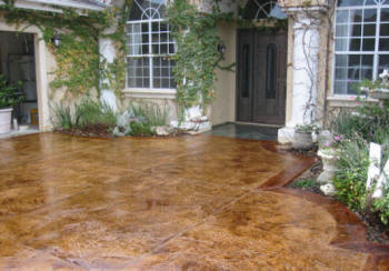 Local Near Me Concrete Contractors Stained Patios Floors