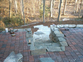 Install irmo sc patios company irmo flagstone porch for Landscaping rocks columbia sc