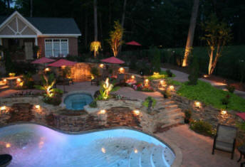 Atlanta ga landscape lighting we light it all low cost deck think of how stunning that waterfall would look install atlanta lighted landscape yard lawn atlanta low voltage lighting cost home atlanta outdoor workwithnaturefo