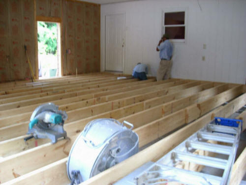 Contractors add on home additions builders extend house for Building room addition
