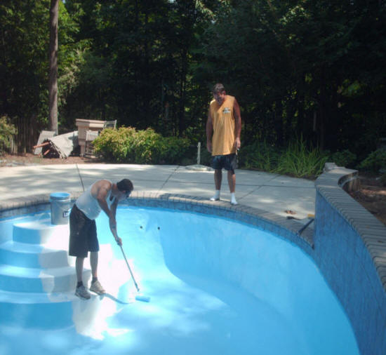 Local inground pool renovation contractors local pool landscaping contractor company cost for Swimming pool renovation costs