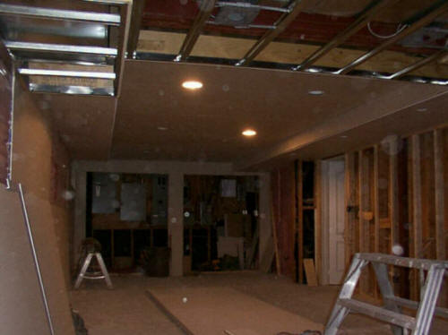 Finishing unfinished basements cost design ideas man cave Man cave ideas unfinished basement