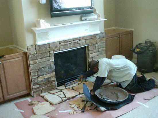 Fireplace Builders Stone Brick Remodel Cost