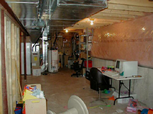 Basement Remodel After