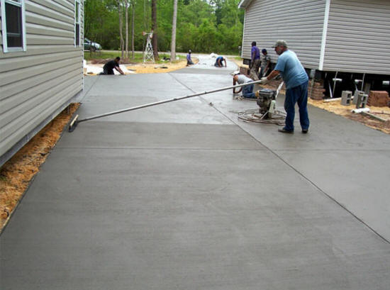 Raleigh concrete stamped stained seal replace pour for Pouring concrete driveway
