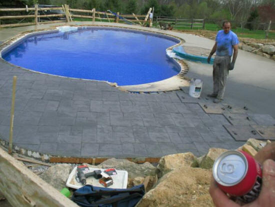 Charlotte concrete poured charlotte concrete contractors Basement swimming pool construction