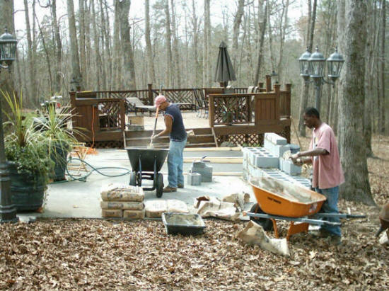 Outdoor Kitchens Fireplace Construction Builders Cost | Covered ...