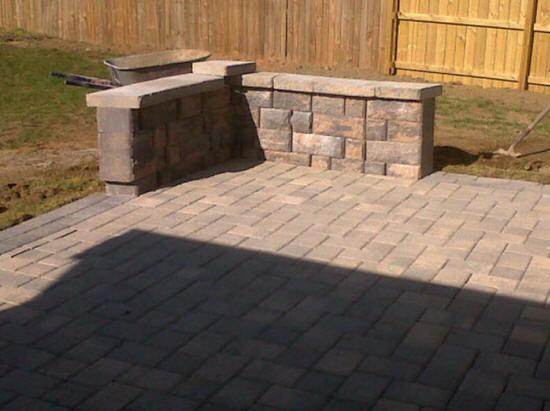 Brick And Pea Gravel Driveway