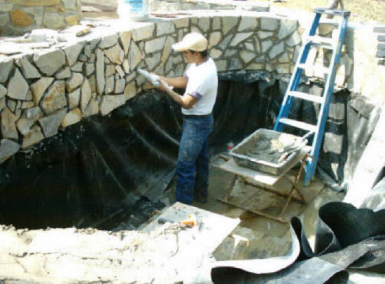 Durham cary apex nc pond water feature 24x7 durham cary for Koi pond installation cost