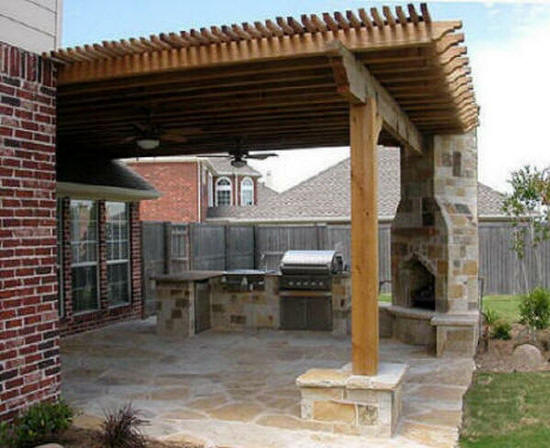 York sc landscaping outdoor kitchens outdoor fireplaces cost for Cost of outdoor living space