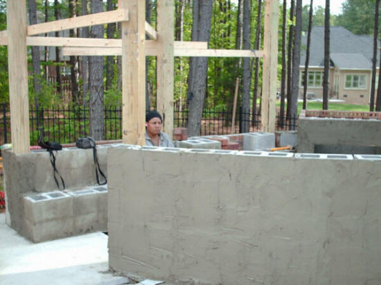 Fayetteville nc outdoor living space 24x7 fireplaces for Outdoor kitchen cost estimator