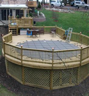 Pool deck builders decks board replace repair pool deck - Build above ground pool ...