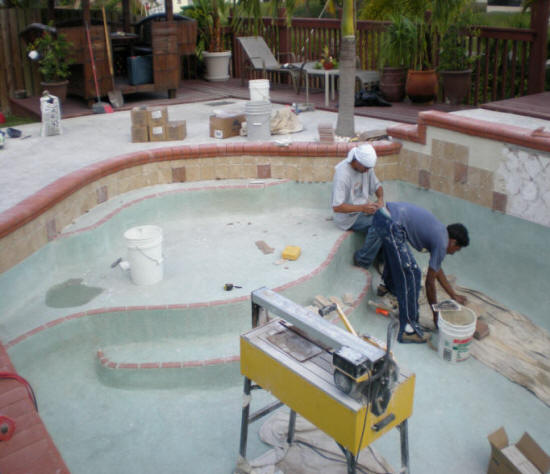 Install Repair Swimming Pool Pavers Brick Concrete Flagstone Contractors Cost Replace Pools