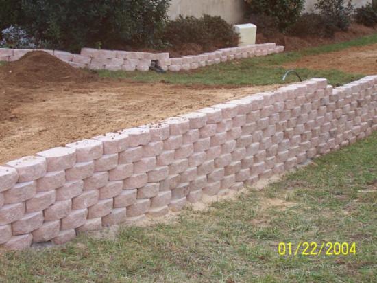 Gastonia NC Retaining Wall