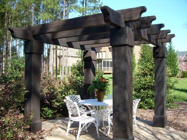 How to build a pergola decorating outdoor - Gallery For Gt Rustic Log Pergola
