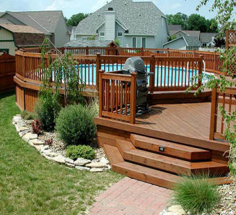 Local near me deck builders we build all decks low cost for Above ground pool decks houston tx
