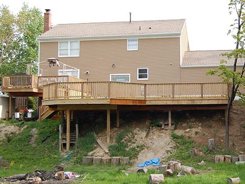 Building A Floating Deck On A Slope